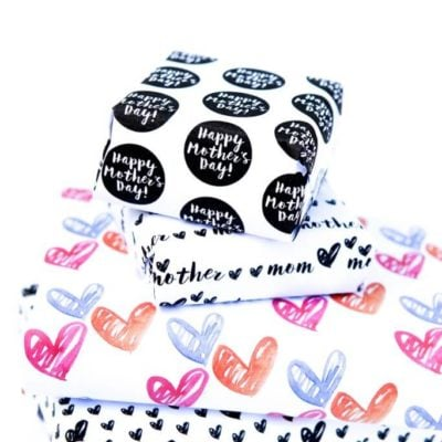 Free Printable Wrapping Paper for Mother's Day