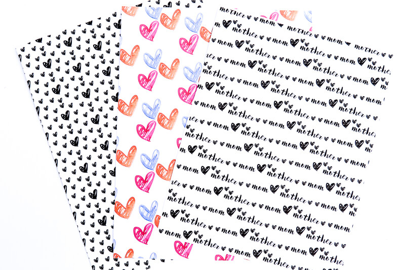 Free printable wrapping paper that's perfect for Mother's Day! Such a fun way to wrap up your Mother's Day gifts!