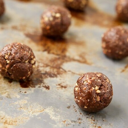 These rocky road protein balls are the perfect pick you up snack when you're craving something sweet but don't want to blow it! With over 4 grams of protein in each one, they're a great healthy snack idea!