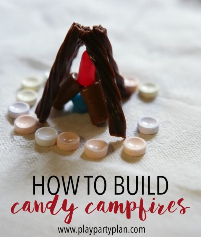 Build candy fires to pass off campfire building certification for girls camp certification, young women's camp certification, or even girl scouts!