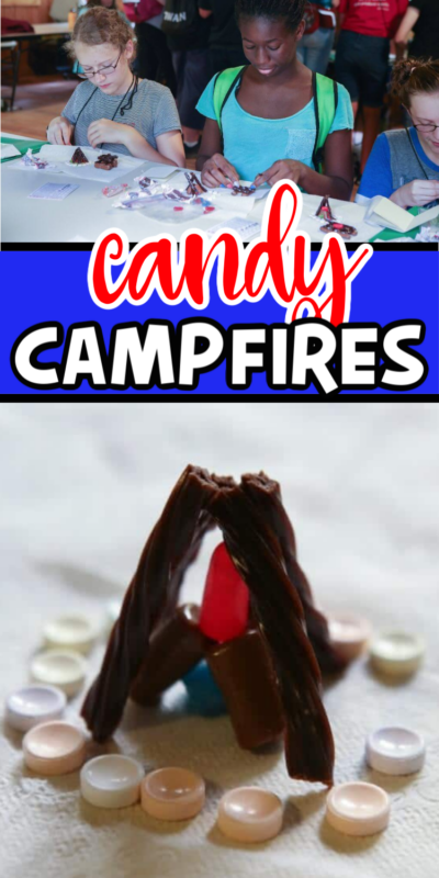 Pictures of a candy campfire