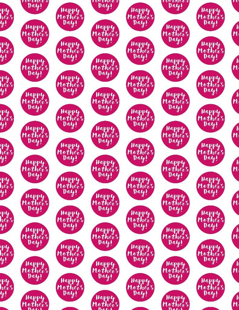 free printable wrapping paper for mother's day - play party plan
