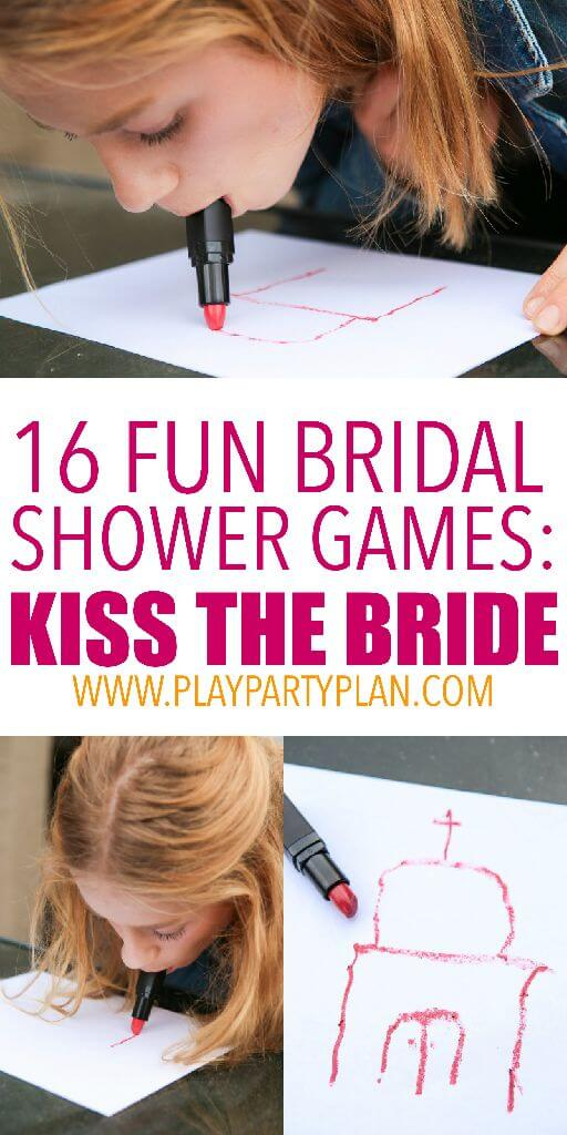 playing lipstick pictionary and other fun bridal shower games