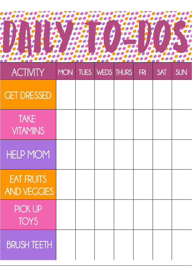 Free printable toddler chore chart and stickers play party plan