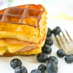 This breakfast grilled cheese recipe looks so good, love the idea of using waffles in grilled cheese!