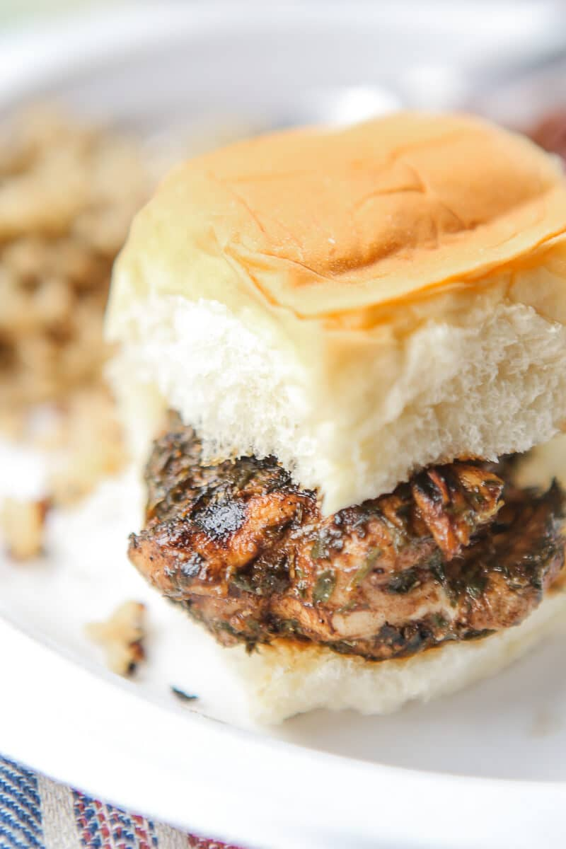 These grilled balsamic chicken sliders are the perfect recipe for a summer cookout! And since all you have to do is marinade your chicken then grill with the glaze on top, they're simple and healthy to make! If you don't have a grill, you can also bake but the tenders are just so much better grilled. I'm definitely adding to my list of recipes to try this summer!