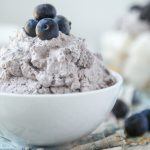 Make this simple blueberry whipped cream recipe in just a few minutes. This is the perfect baby shower recipe, would be so fun for a baby boy shower!