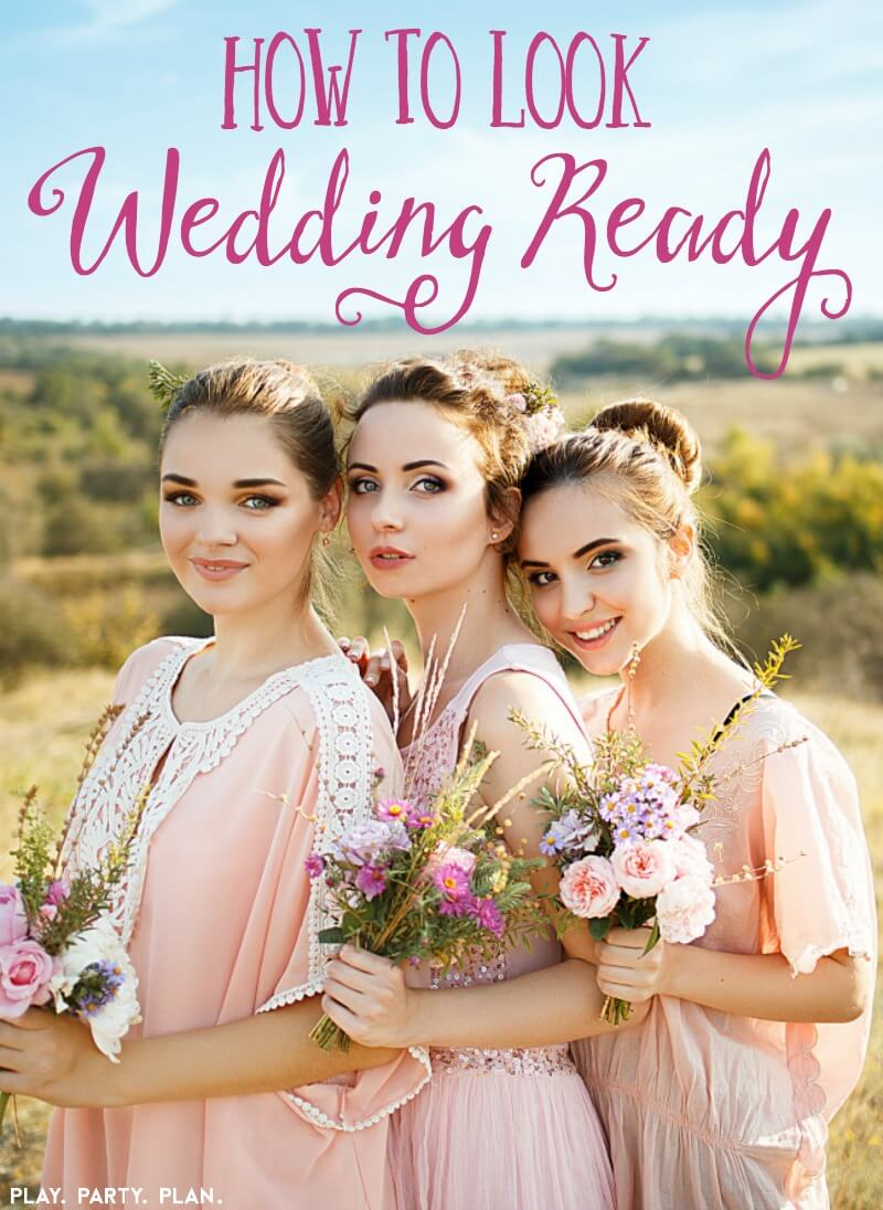 Need help getting wedding ready quick? Great ideas for better skin, simple diet changes, and other ideas to help you feel good about showing off your body in wedding photography! Things like picking your bridesmaid outfit ahead of time, practicing hairstyles, tips for choosing dresses, and more!