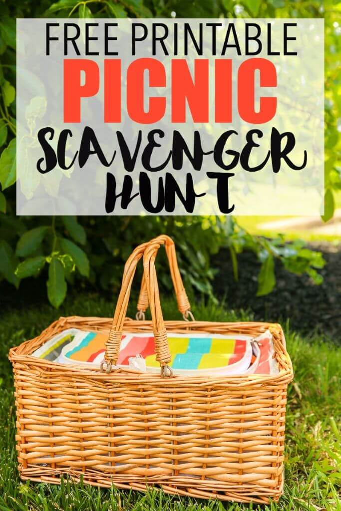 Make your summer picnic even more fun with this free printable picnic scavenger hunt! It's perfect for a fun date night or a family picnic. Put one in your picnic basket then have fun looking for food and summer decorations on your hunt. Love these fun picnic ideas!