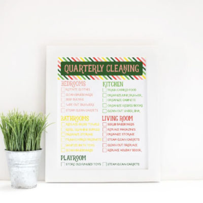 Free Printable Quarterly Cleaning Checklist