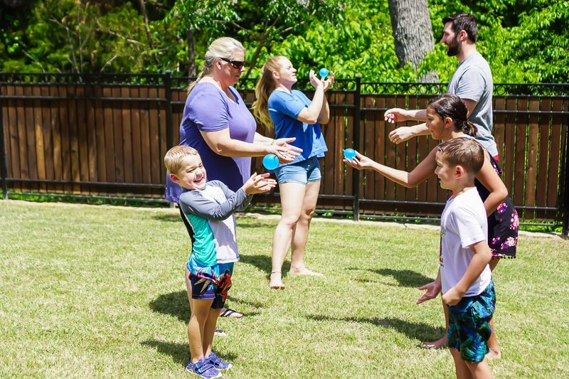Water balloon games with a twist for kids