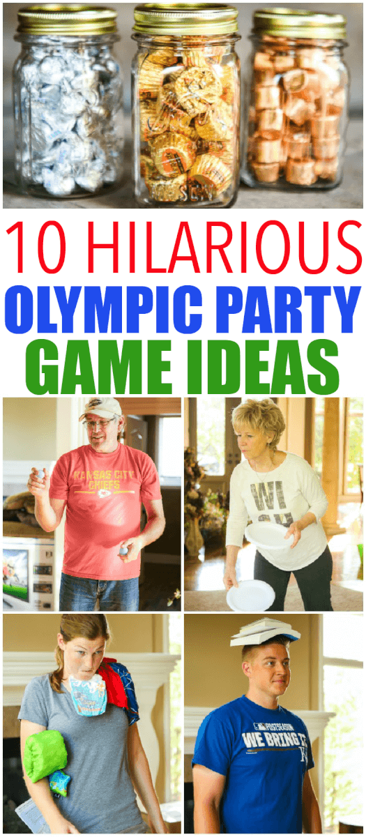 10 hilarious Olympics party games that are perfect for getting ready for the 2016 summer games in Rio! Fun for kids, for teens, and even for adults! Tons of simple minute to win it style activities that use things around the house. And for your winners? Chocolate Olympic medals! I can't wait to try the household triathlon. via @playpartyplan