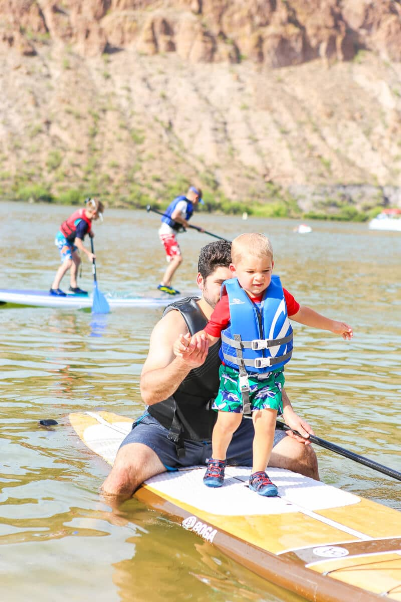 Paddle boarding is one of the most fun things to do in Phoenix