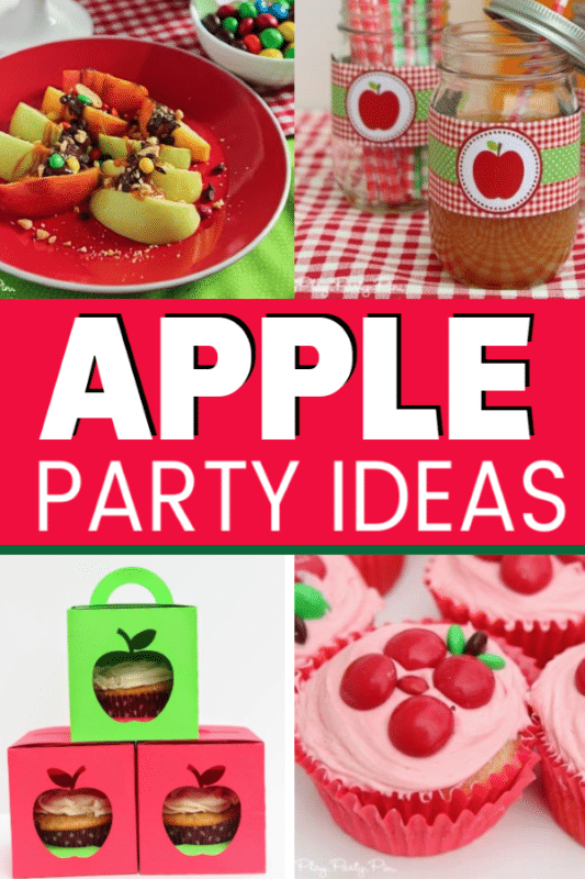 Tons of great apple party ideas from decorations to games and even cake and favor ideas! Perfect for kids fall birthday parties or just a fun theme for a fall girls night!