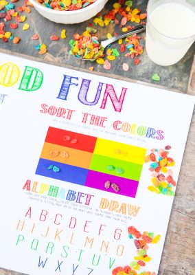 These free printable placemats for preschools are a fun way to get kids excited to go back to kindergarten or preschool! Perfect for a back to school breakfast, party, or even just for 3 year olds to enjoy every day. I love all four DIY activities, and I know my son will absolutely love the pick a rainbow activity!