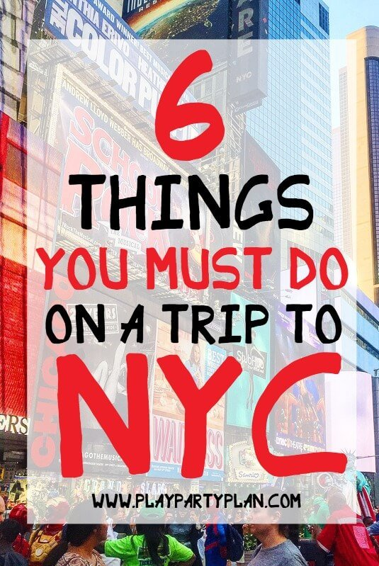 Six must see and do things in New York City, perfect for the next time you travel to the big apple with girlfriends or your significant other. Everything from shopping to seeing a Broadway show to grabbing pizza from one of the restaurants near Times Square. If you're not living in New York city and need a way to enjoy the food, the skyline, and the excitement - you're going to love this guide!
