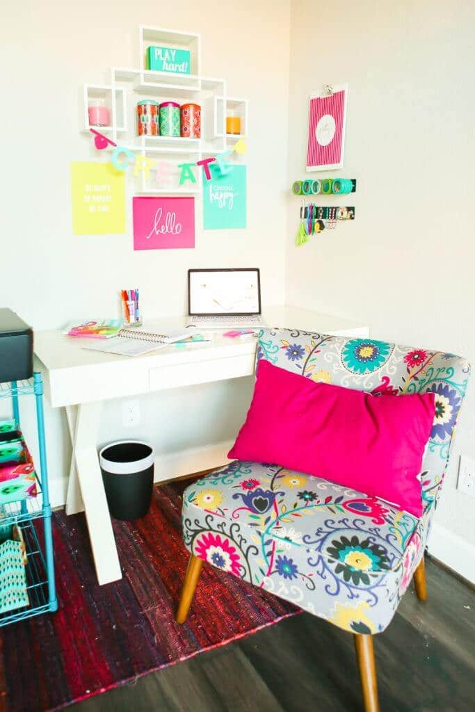 Colorful Home Office pop of color home office ideas - play.party.plan