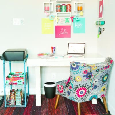 Pop of Color Home Office Ideas