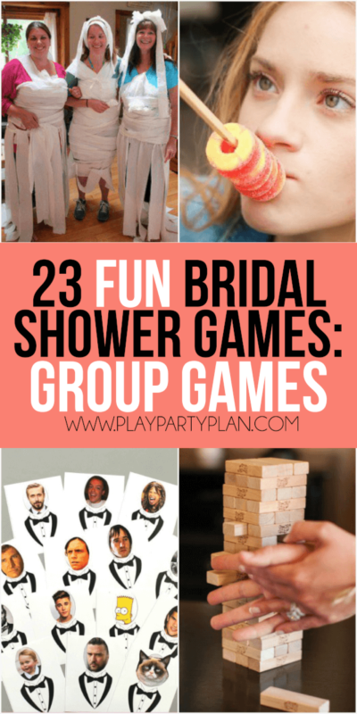 fun bridal shower games that don't suck including everything from games for couples, interactive games for large groups, and even a bunch of free printable bridal shower games! So many of these would be hilarious for a co-ed shower or for bride to learn more about the groom. Definitely a bunch of the best unique bridal shower games.