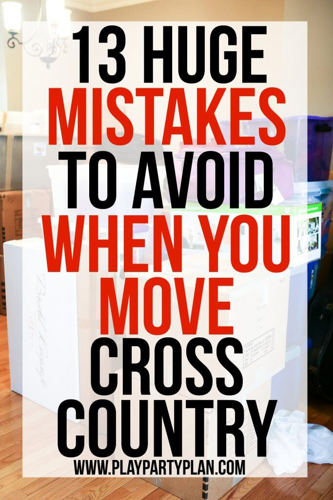 Love these 13 mistakes to avoid when moving cross country, so many great moving tips, downsizing ideas, and tricks for sticking with a cheap budget! Definitely helpful for creating a cleaning checklist and getting your house more organized and prepped to move!