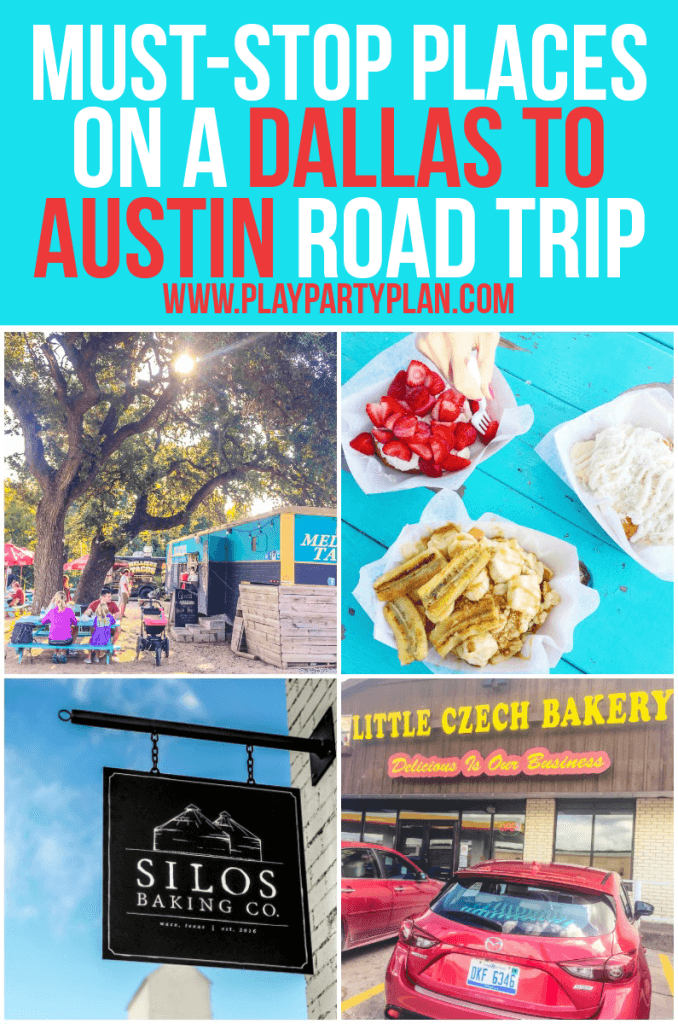 Three awesome places you have to stop when you go on a Dallas to Austin road trip. Delicious food and fun shopping make these must-stop places on your trip!