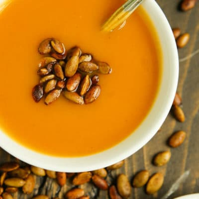 Protein Packed Creamy Butternut Squash Soup