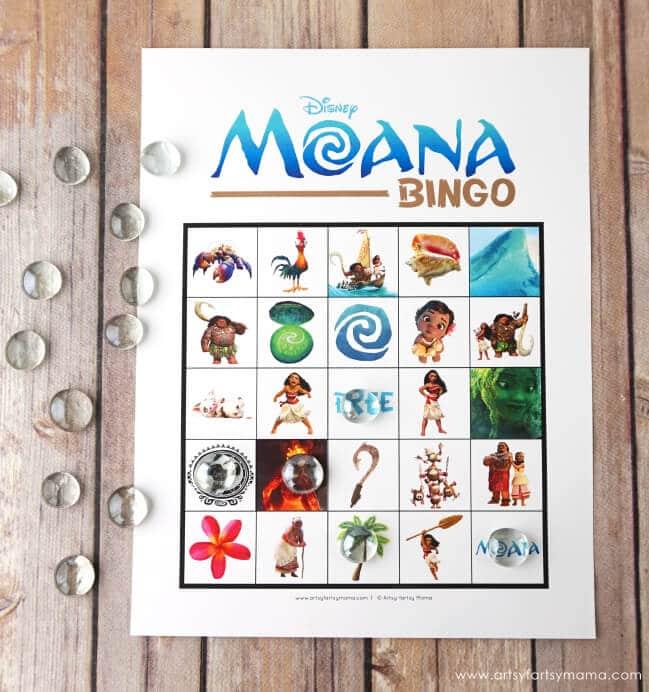 Moana-Bingo