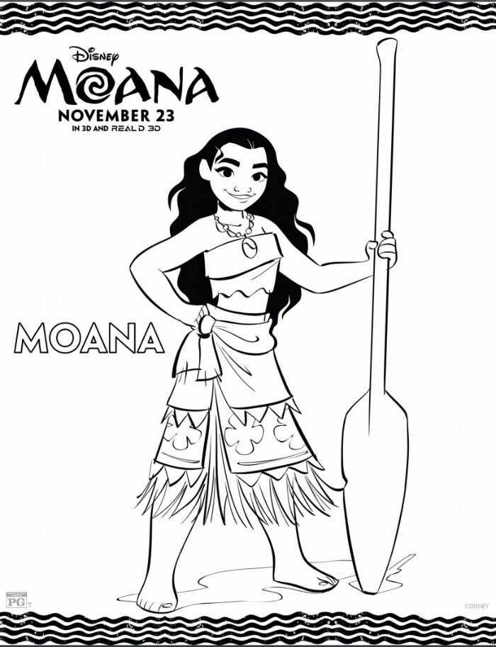 Free Moana Printables - Coloring Pages, Party Printables, and More