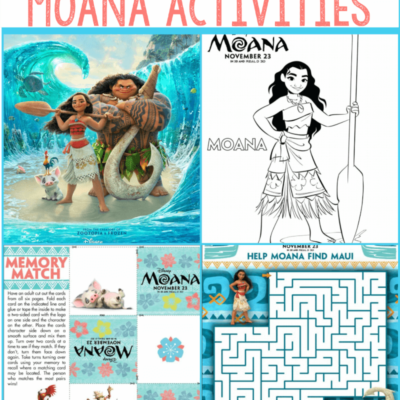 Moana Printables and Activities for Kids