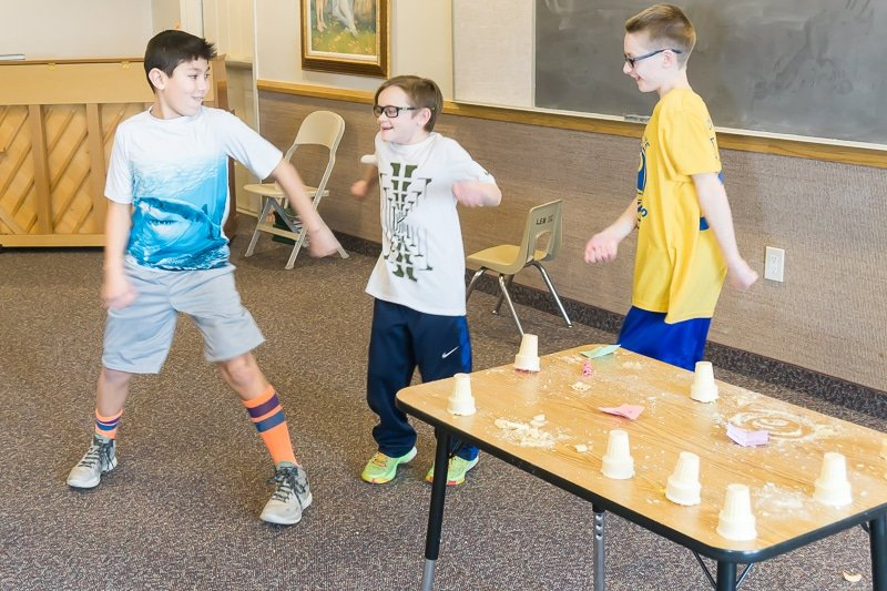 Kids will love these birthday party games like silly smash