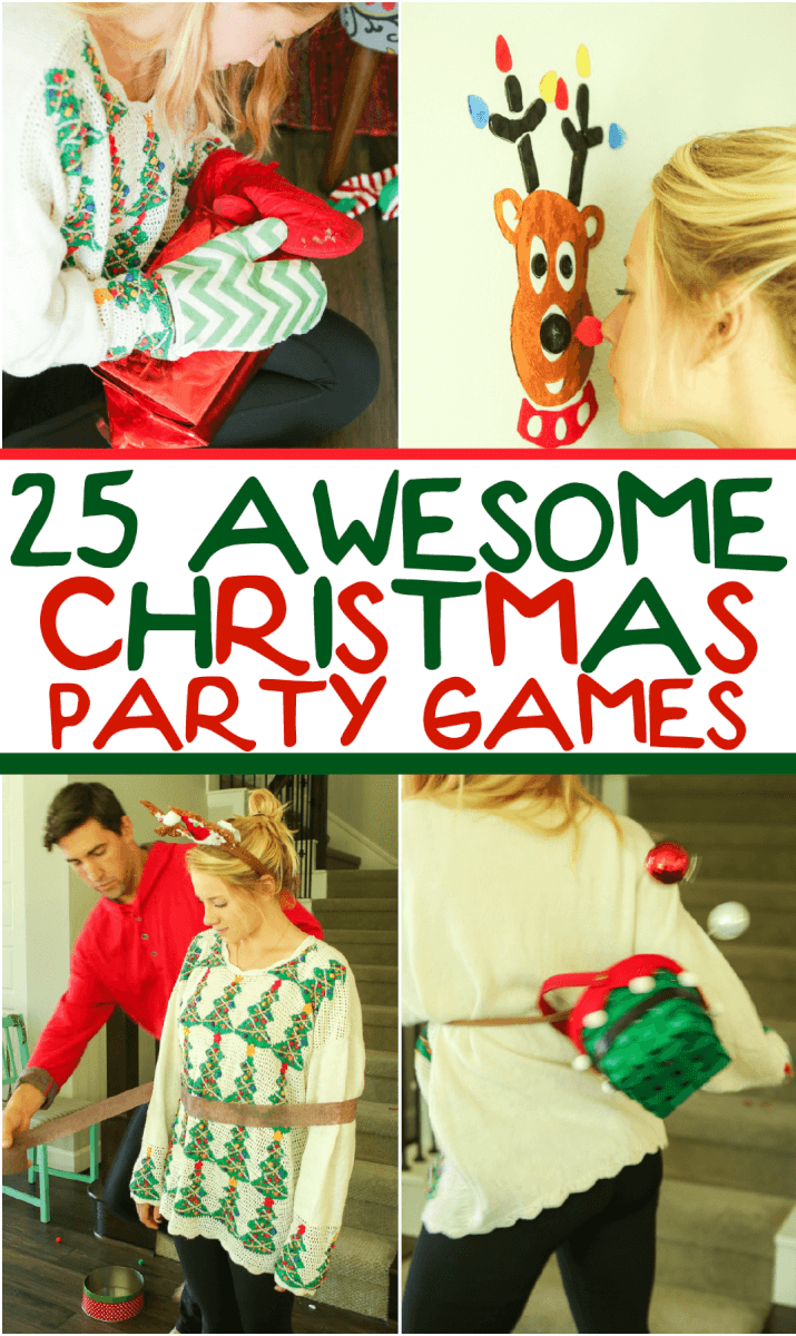 25 hilarious christmas games for kids adults play party plan