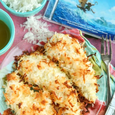 Moana Inspired Baked Coconut Chicken Tenders