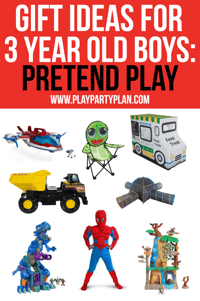 Get gifts for 3 year old boy that encourage pretend play!