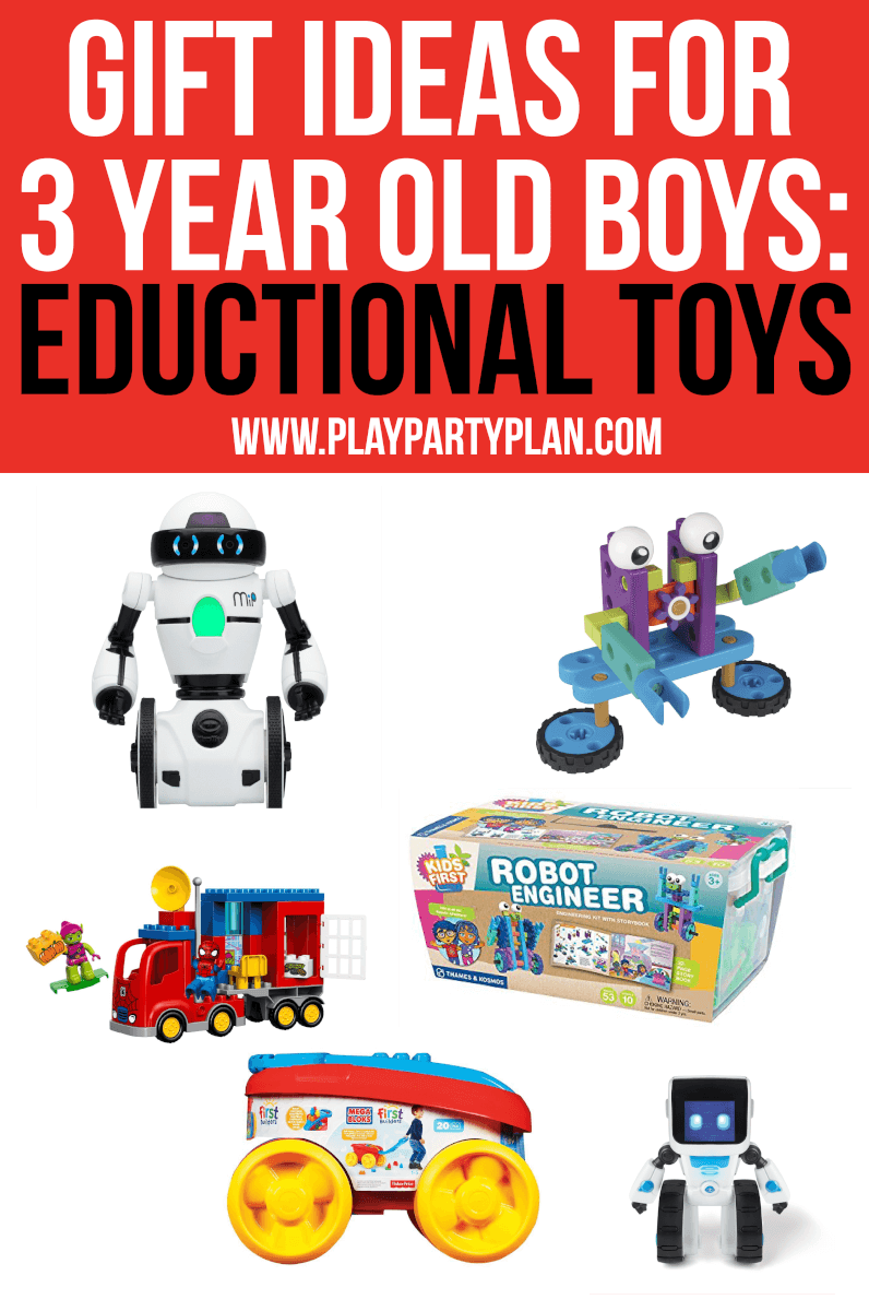 Don't forget about the educational toys for 3 year old boys