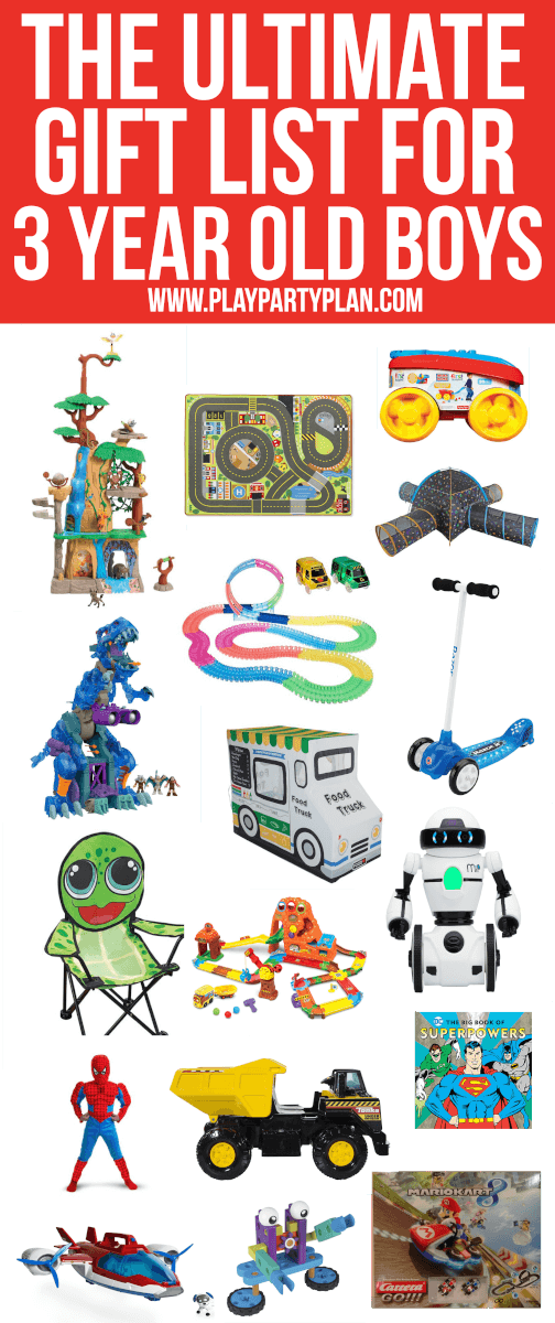 The ultimate collection of gifts and toys for 3 year old boys