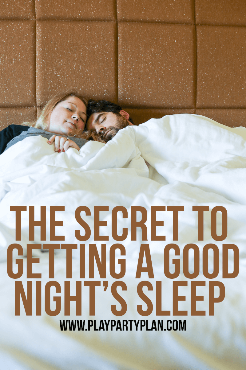 One of the best ways to get a good night's sleep, love this tip!