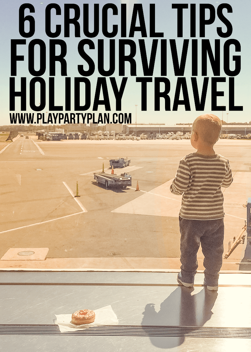Crucial tips for holiday travel that all people should read before they head out for Christmas or Thanksgiving, especially if you're traveling with kids! I love all the ideas but #3 is my favorite!