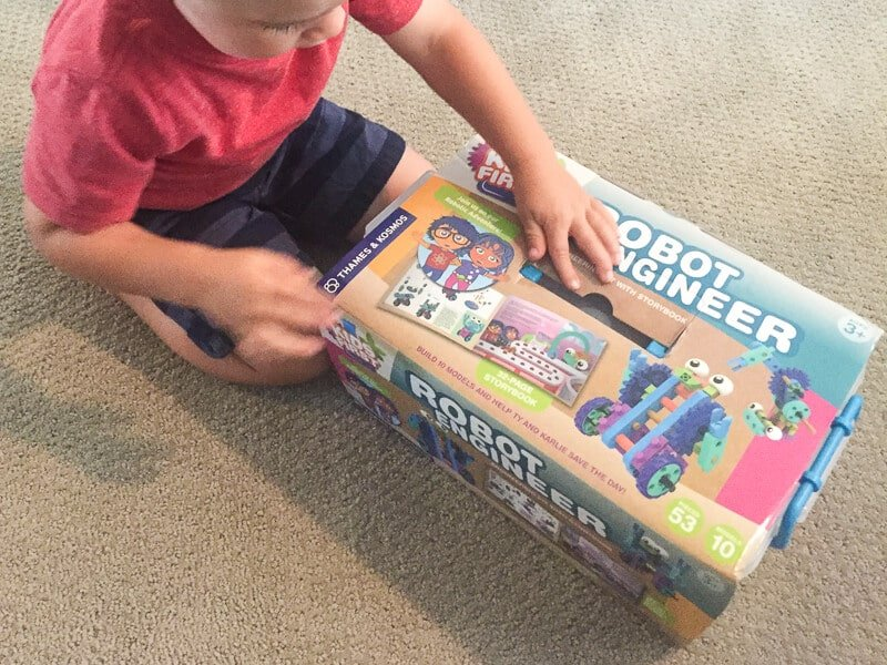We love robots as gifts for 3 year old boy