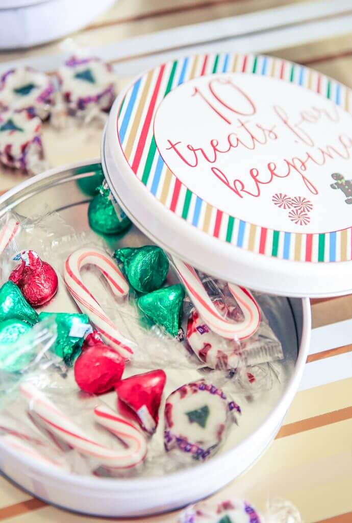 This fun 12 days of Christmas party has it all - gift ideas, printables, activities, decorations, and more! There's fun for the entire family and for friends! Just use the funny invite based on the 12 days of Christmas song (with different lyrics of course), do a few easy crafts, and you're ready to go! I love the 12 drinks for drinking table!