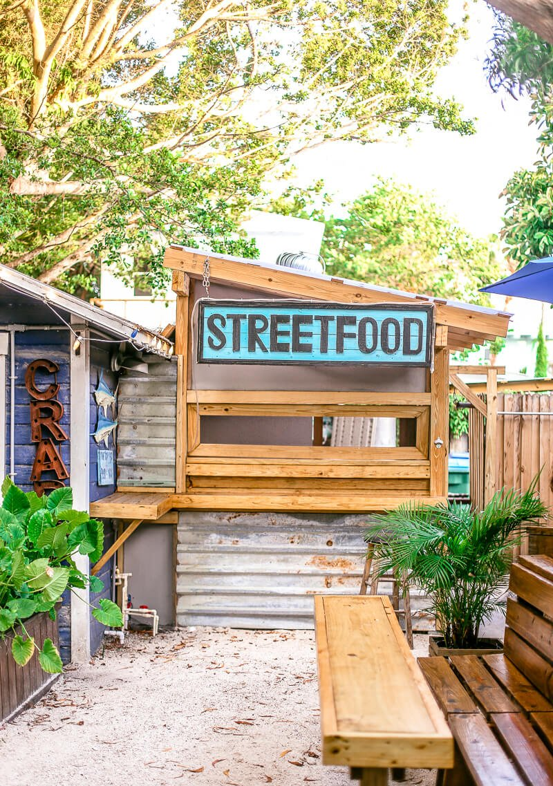 Blue marlin outdoor restaurant area