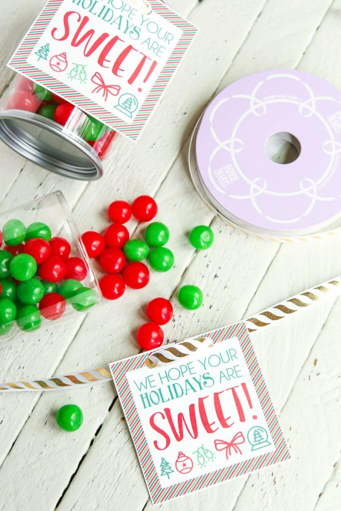 graphic regarding Diy Gift Tags Free Printable titled Straightforward Adorable Holiday seasons Do it yourself Reward Concept - Engage in.Bash.Program