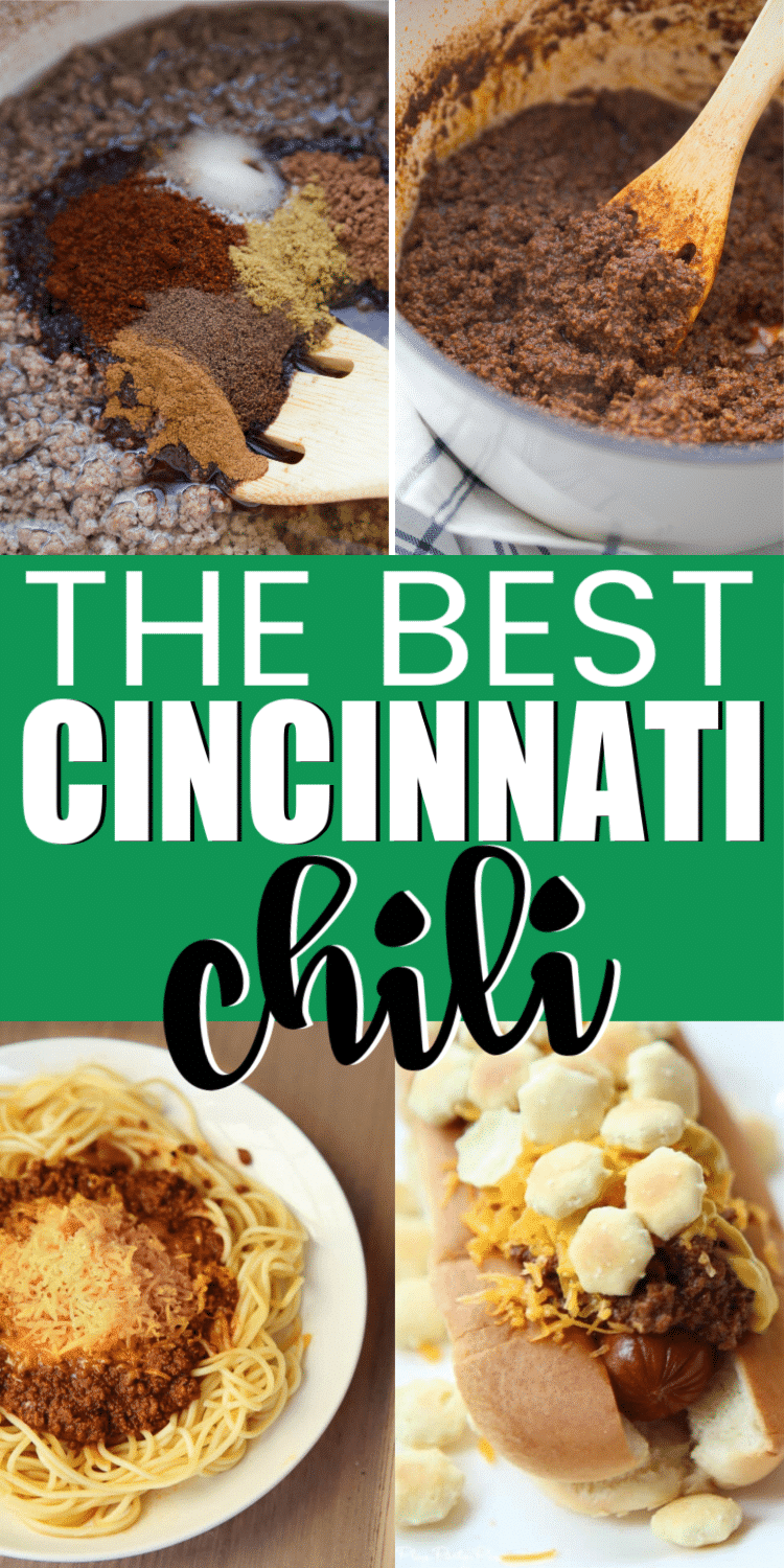 A delicious and easy Cincinnati chili recipe! The best recipe you'll try - just like Skyline or Gold Star but an easy recipe you can make at home!