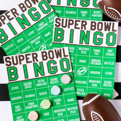 2019 Super Bowl Commercial Bingo Game