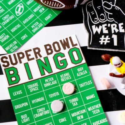 2020 Super Bowl Commercial Bingo Game