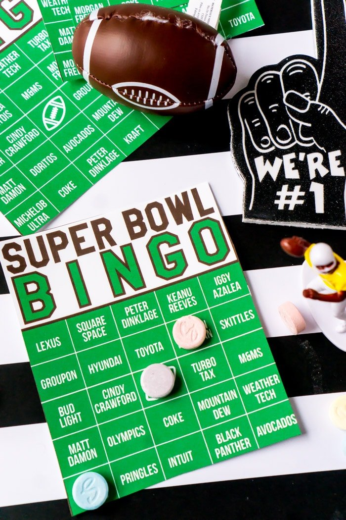 image regarding Superbowl Boards Printable referred to as The Easiest Tremendous Bowl Bingo Match - 2019 Tremendous Bowl Industrial