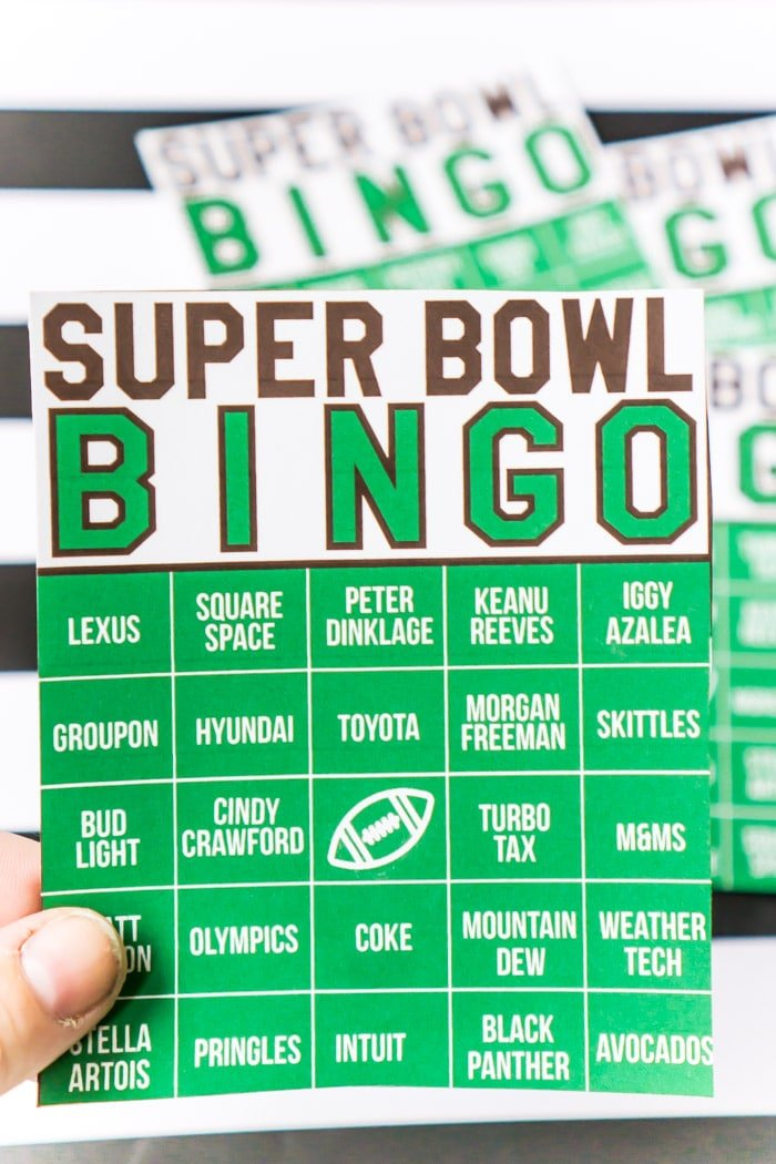 20 free printable Super bowl bingo cards