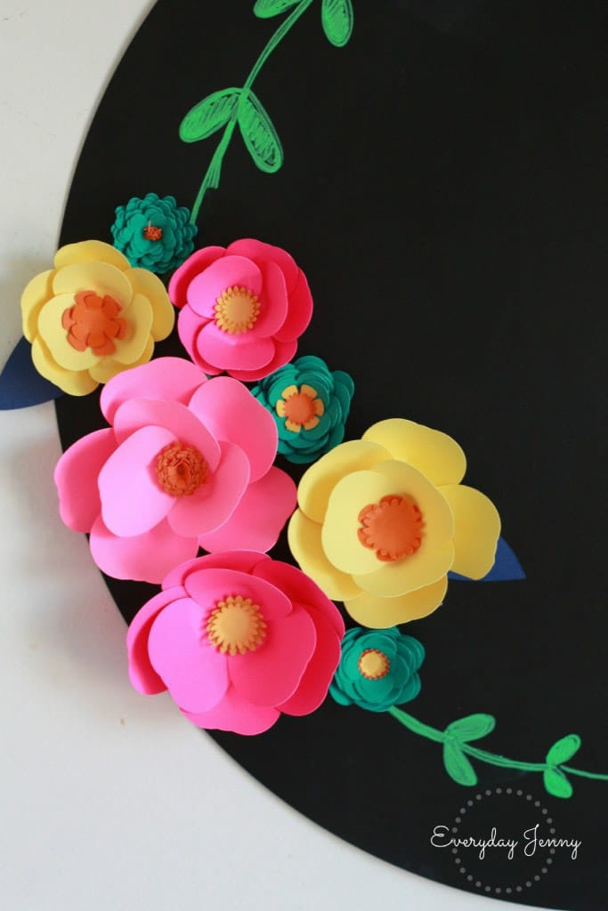 Flower magnets made with the Cricut Explore Air