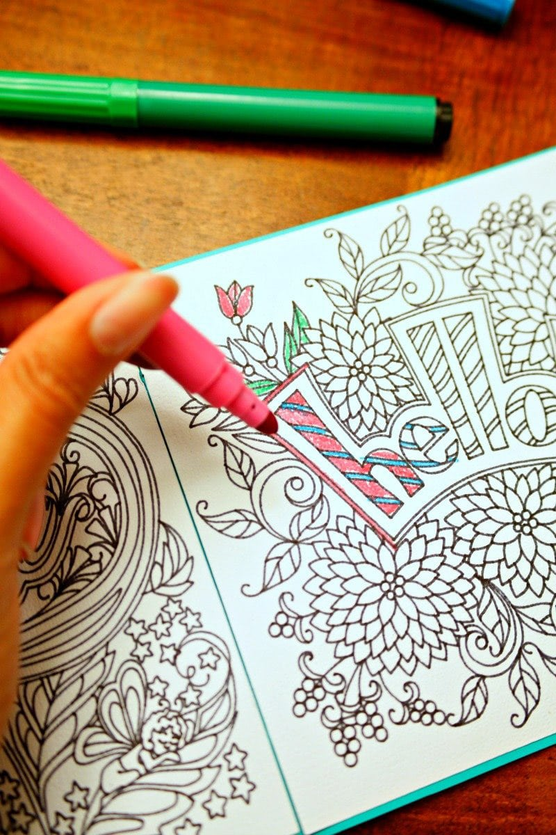 Coloring book made with the Cricut Explore Air