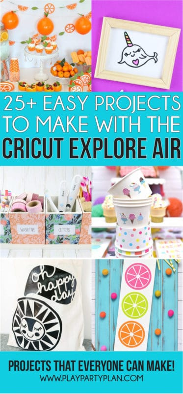 Tons of beginner Cricut projects you can make with a Cricut Explore Air or Cricut Maker! Whether you're making them to sell or just want to DIY things for yourselves - this list of ideas has something for everyone!