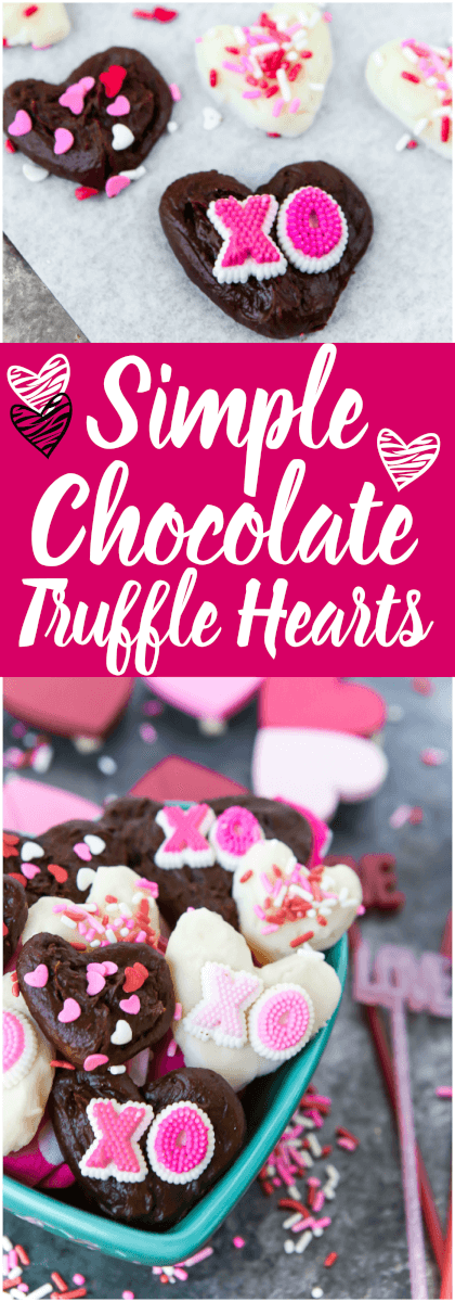 These easy chocolate truffles are homemade, healthy, and the perfect gourmet Valentine's Day gift. Make the recipe with dark, white, or milk chocolate - it doesn't matter, it's still delicious. These look so good! via @playpartyplan